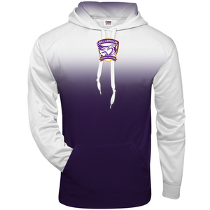 Copy of Bellbrook Women's Soccer Adult White/Purple Ombre Hoodie