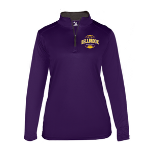 BMS Girls Basketball Players 1/4 Zip Shooting Shirt - Ladies Cut