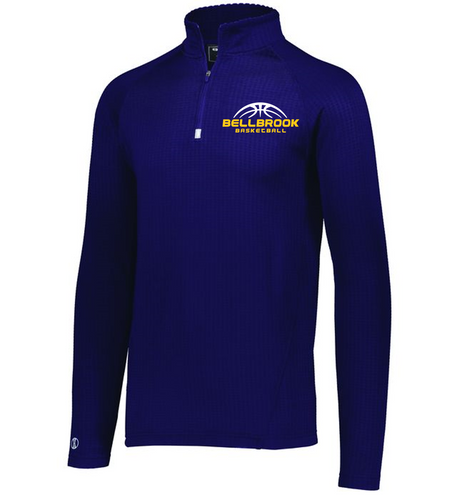 BHS Basketball Adult Embroidered 1/4 Zip Lightweight Pullover