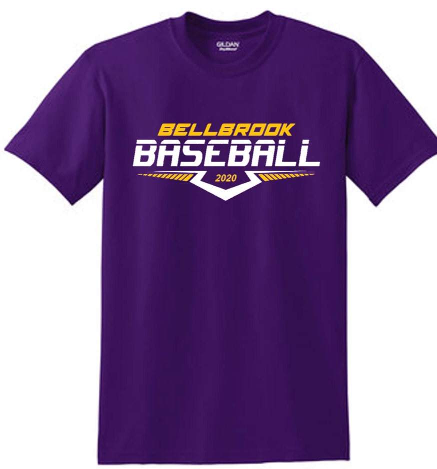 Copy of Bellbrook Middle School Baseball Purple T-Shirt