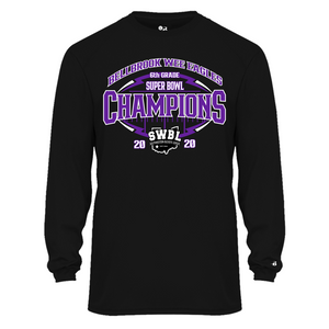 Wee Eagles Football Super Bowl Champions Dri Fit Long Sleeve Sleeve Shirt