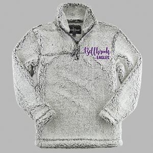 "Wee Eagles ""Bellbrook Eagles"" Frosty Grey 1/4 Zip Sherpa"