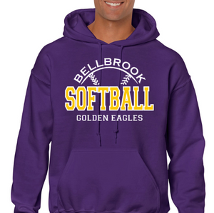 Bellbrook Softball Purple Hoodie