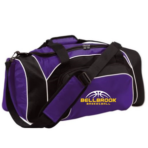 "Wee Eagles Embroidred ""Bellbrook Basketball"" Duffle Bag - Purple/Black/White"
