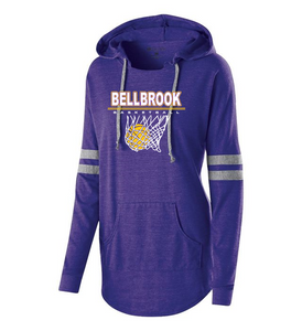 "Wee Eagles ""Bellbrook Basketball"" Ladies Vintage Long Sleeve Hoodie"