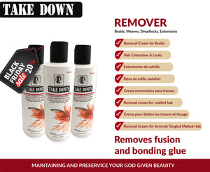 BLACK FRIDAY PROMO EU Pack 3 of Take Down Remover Hair Detangler