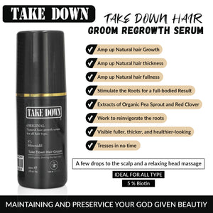 Take Down Hair Groom Regrowth Serum