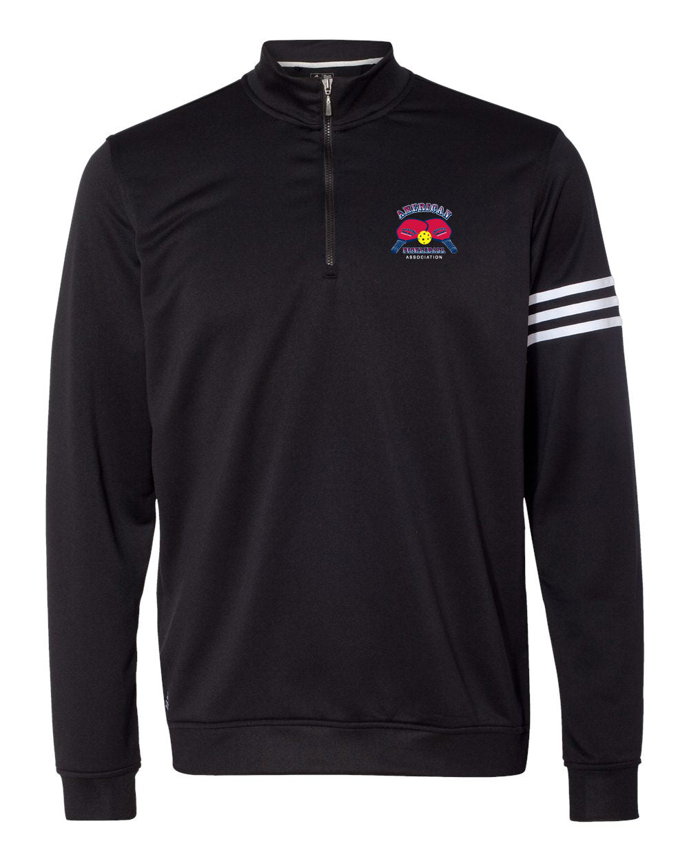 Adidas ClimaLite 3-Stripes French Terry Quarter-Zip Pullover