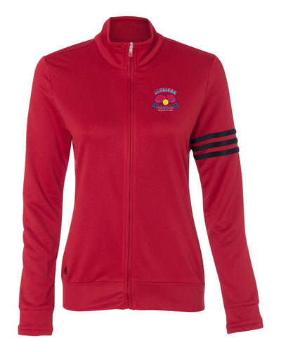 Adidas Women's ClimaLite 3-Stripes French Terry Full-Zip Jacket