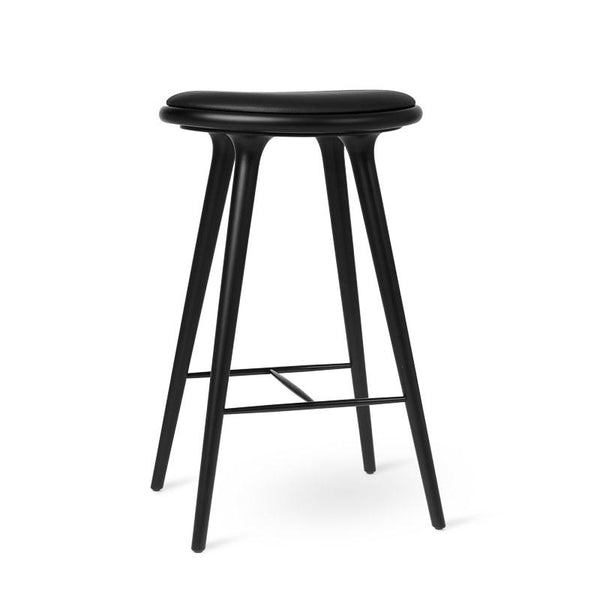High Stool | Black stained beech | 74 cm
