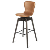 Shell Bar Stool | Ultra Black | 74 cm
