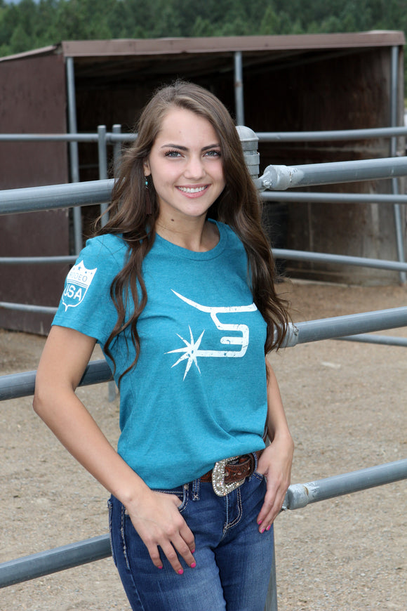 Ladies Teal Tee