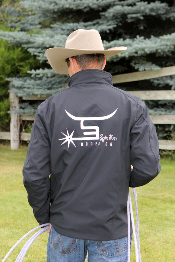 Men's Black Jacket-White Logo