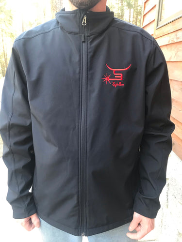 Men's jacket with red logo