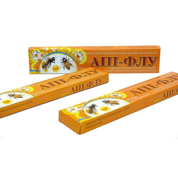 Api-Flu Strips  Prevention of Varroatosis  Varroz - 30 Strips - Beebox2u