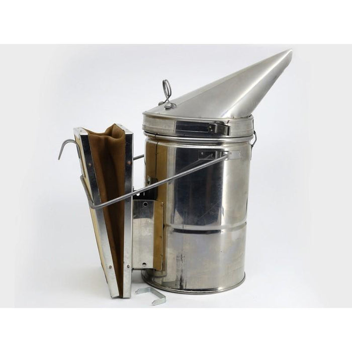 Stainless Steel  Smoker with leather Bellows - Beebox2u