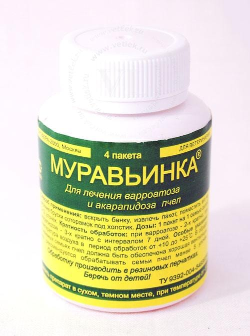 Muravinka - Treatment for varroatosis and acarapidosis in bees - Beebox2u
