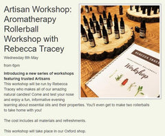 Aromatherapy Rollerball Workshop with Rebecca Tracey