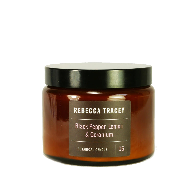 Rebecca Tracey - Black Pepper, Lemon & Geranium 3 Wick candles