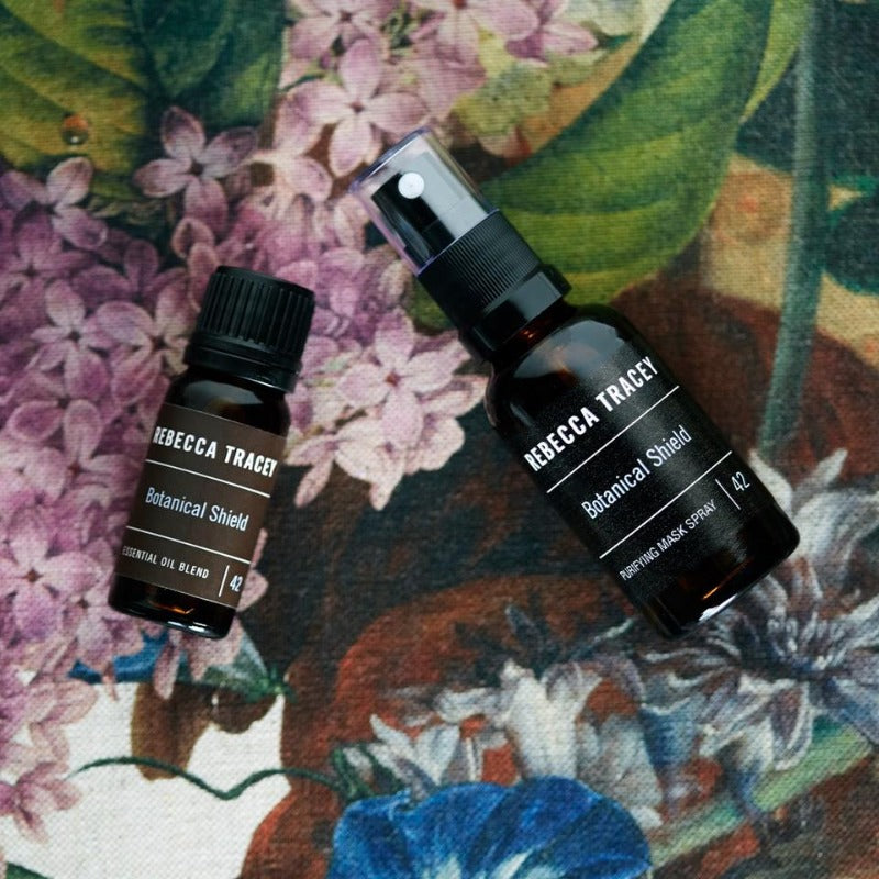 Rebecca Tracey Botanical Shield Mask Spray and Essential Oil