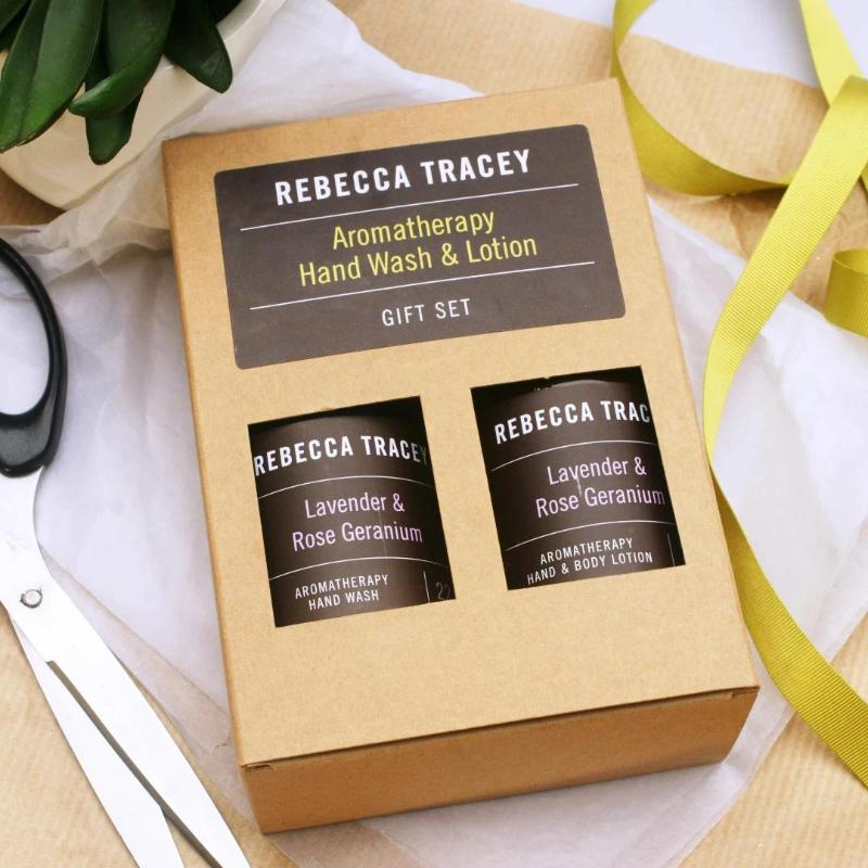Rebecca Tracey Lavender & Rose Geranium Hand wash and Lotion Gift Set
