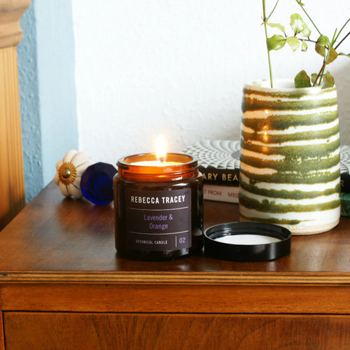 Rebecca Tracey Lavender and Orange Travel Candle