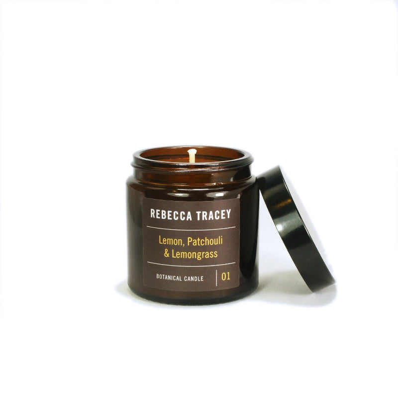 Rebecca Tracey - Lemon, Patchouli & Lemongrass Travel Candle