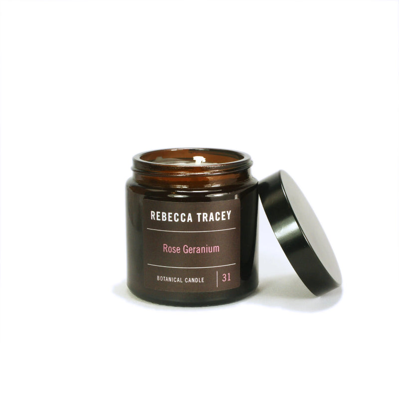 Rebecca Tracey Rose Geranium Travel Candle