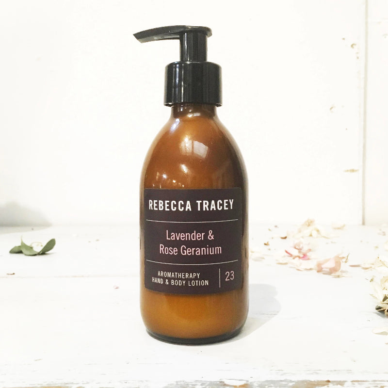 Rebecca Tracey Lavender & Rose Geranium Hand & Body Lotion
