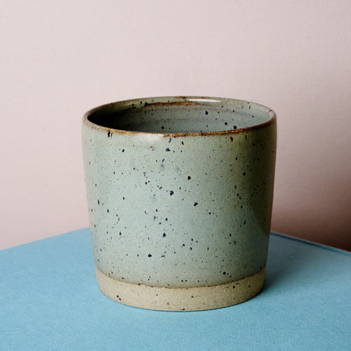 Simple stoneware tumbler - Bluebird