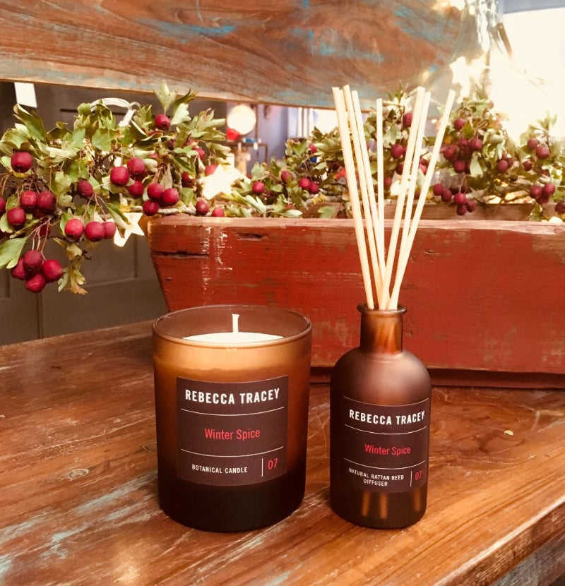 Rebecca Tracey Winter Spice Candle and Diffuser