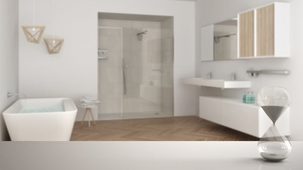 hour glass bathroom