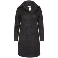 Lane Quilted Velvet Coat