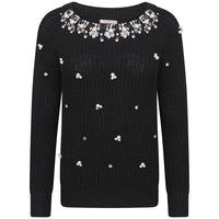 Marta Embelished Neck Jumper