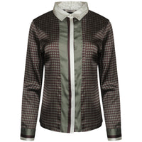 Sookie Dogtooth Print Shirt
