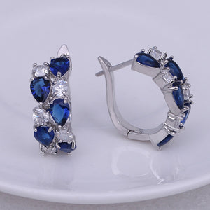 Classic Semi-precious Stone Stud Earrings