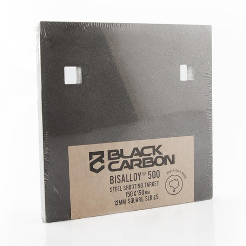 150 x 150 Square Series Steel Gong 12mm - BISALLOY®500 Target by Black Carbon, targets, Black Carbon, Black Carbon