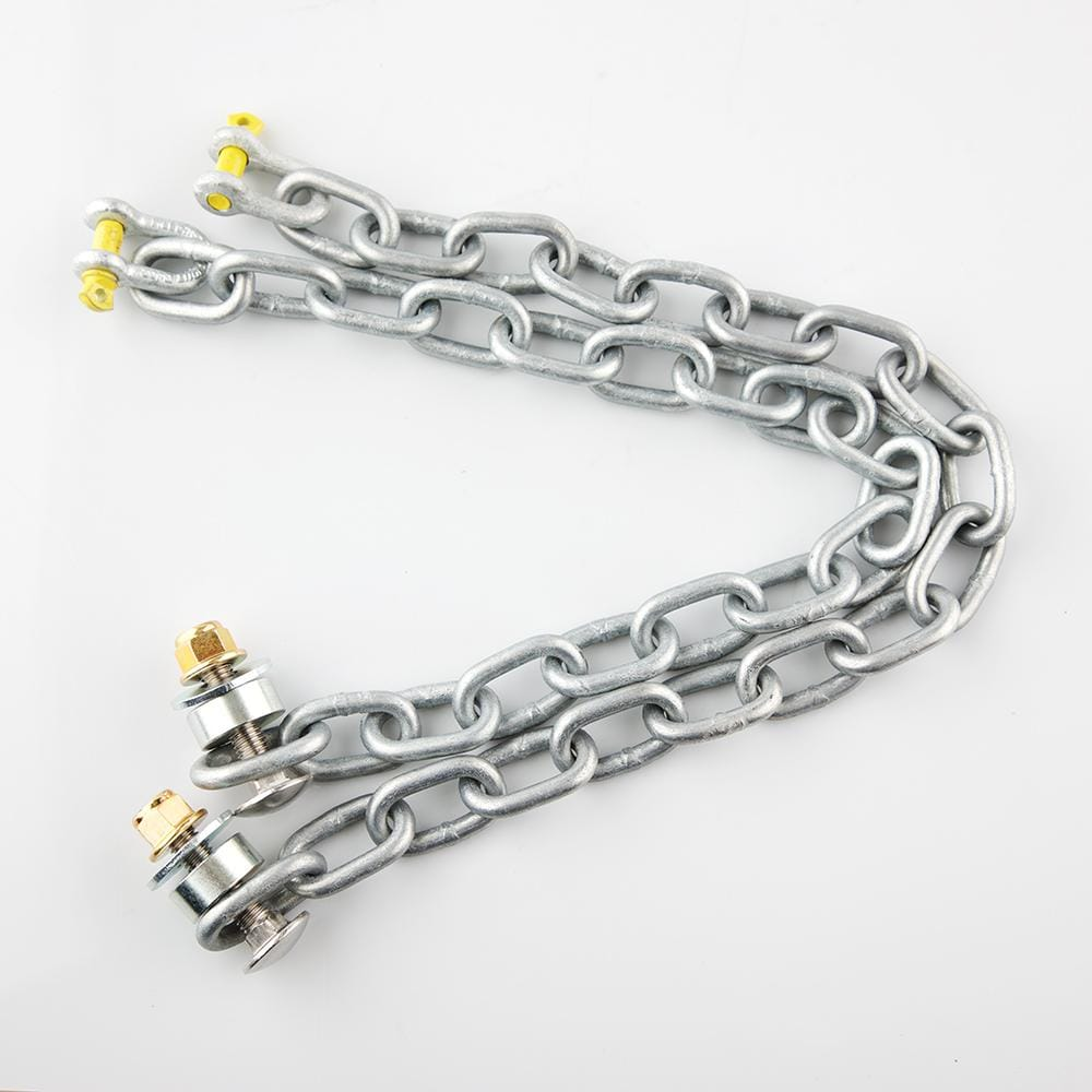 Steel Target Mounting Chain Kit - 18 link Long, bundle deals, Black Carbon, Black Carbon