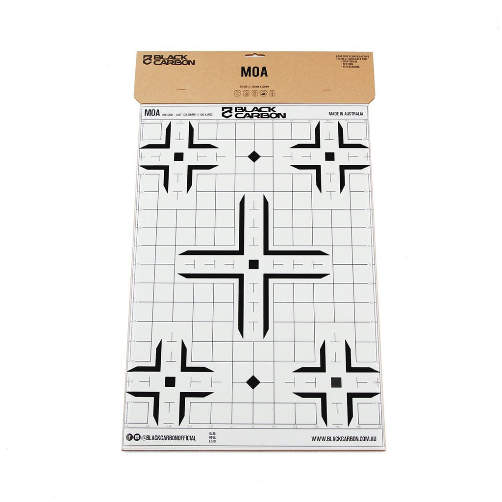 MOA Splatter Adhesive Sight-In Target 5 Per Pack, accessories, Black Carbon, Black Carbon