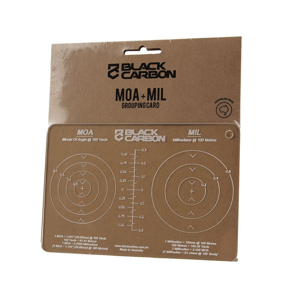 MOA and MIL Grouping Card, accessories, Black Carbon, Black Carbon