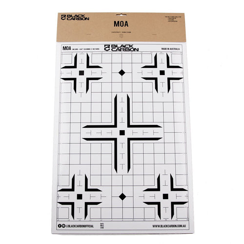 MOA Paper Sight-In Target 5 Per Pack - Back in stock 11/10/2019, accessories, Black Carbon, Black Carbon