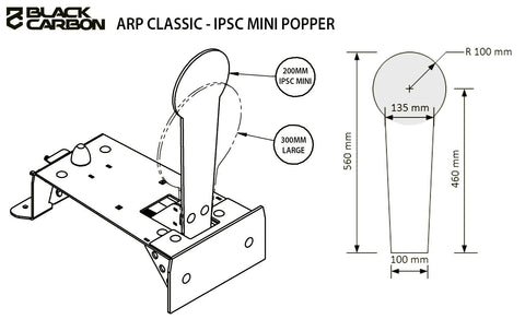 ARP Classic - Auto Reset Mini Popper by Black Carbon, Modular Stands, Black Carbon, Black Carbon