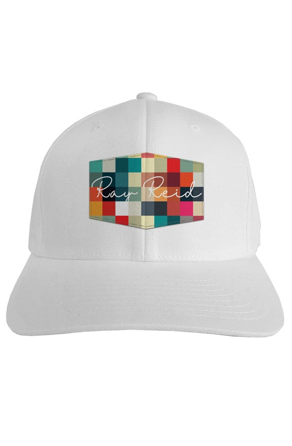 Test Pattern Logo Fitted white