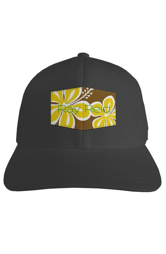 Hibiscus Brown Fitted hat