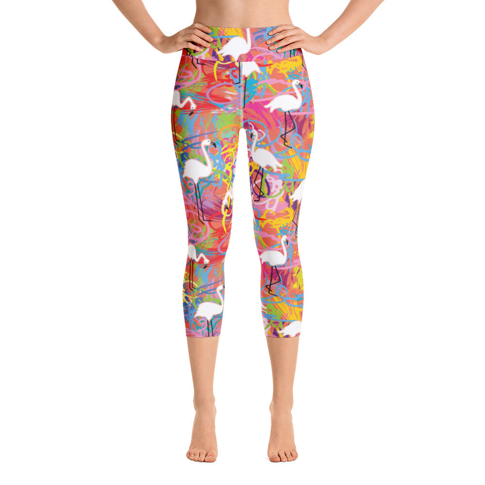 Flamingo Yoga Capri Leggings