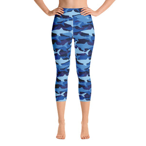 Shark Camo Yoga Capri Leggings