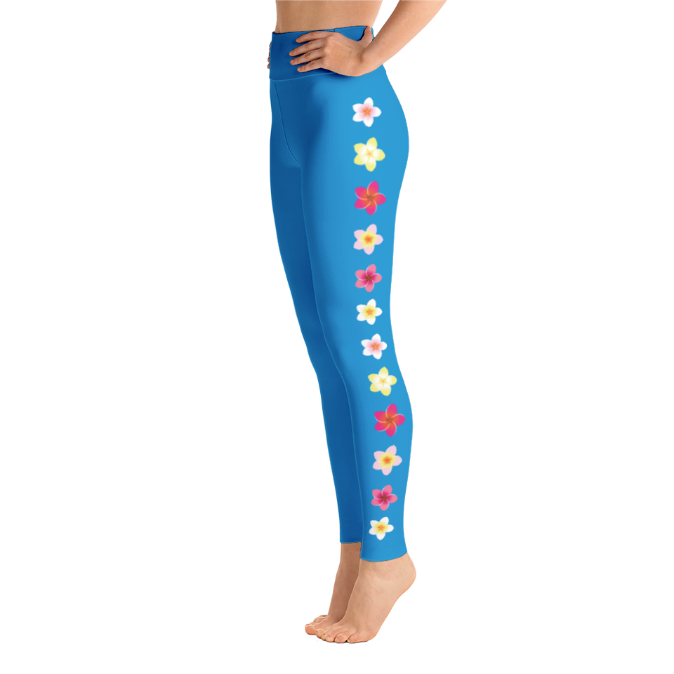 Plumeria Yoga Leggings