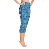 Aloha Ink Yoga Capri Leggings
