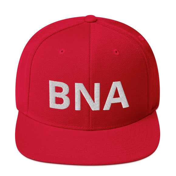 Embroidered BNA Letters Snapback Hat