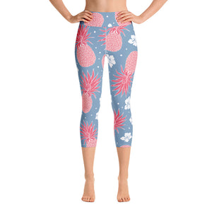 Pineapple Yoga Capri Leggings